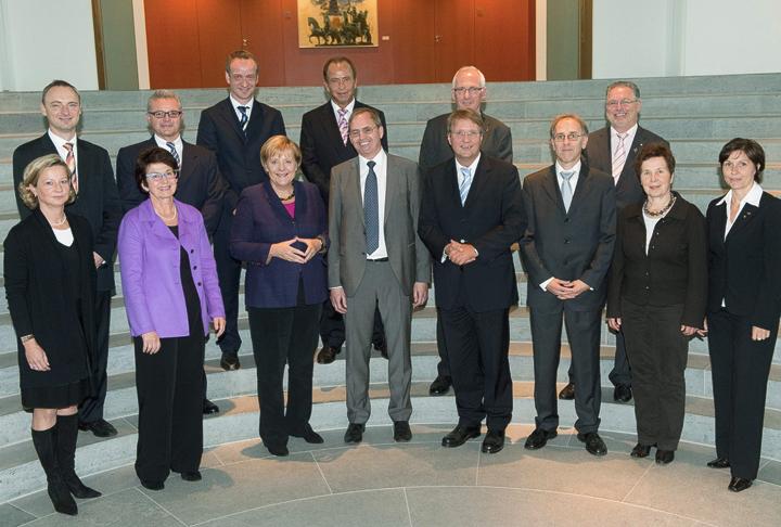 Angela Merkel,.Reihard Männer, Ronald Pofalla, Anton Senner