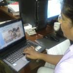 Einer der Laptops im Einsatz.