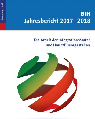Das Bild zeigt das grafische Cover des BIH-Jahresberichts 2017/18