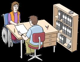 Menschen arbeiten am Schreibtisch